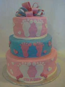 Footprint Baby Shower Cakes by Baby Footprint Shower Cake Special Occasion Cake