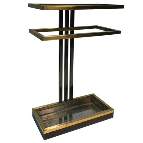 72in set of 3 black tribal bamboo sticks home decor accent modern umbrella stand in chrome and brass at 1stdibs