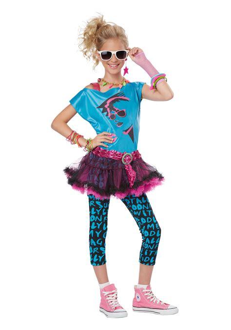 Teen and tween 80s valley girl costume 1980s madonna costumes