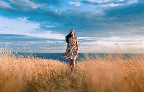 Safiya Dress By Fasha Gamis Overall 1 wallpaper excellent the sunset beautiful field ivan proskurin sky