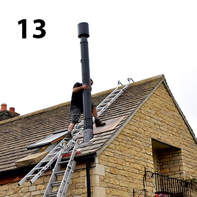 Chimney Height On Single Storey Extension - how to install a woodburning stove homebuilding renovating