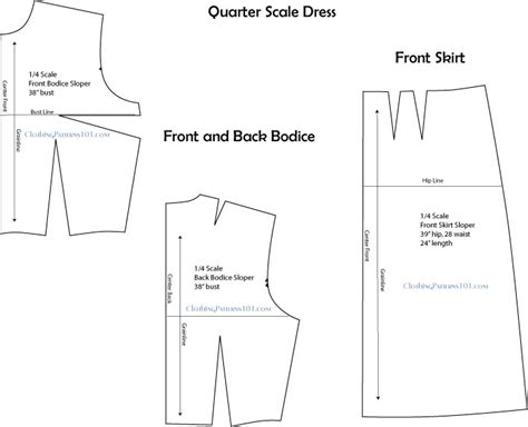 dress pattern block templates how to use quarter scale patterns in design