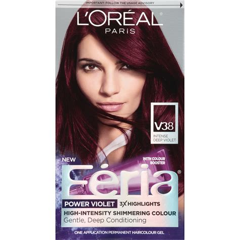 loreal hair color wheel feria high intensity shimmering colour power violet v38