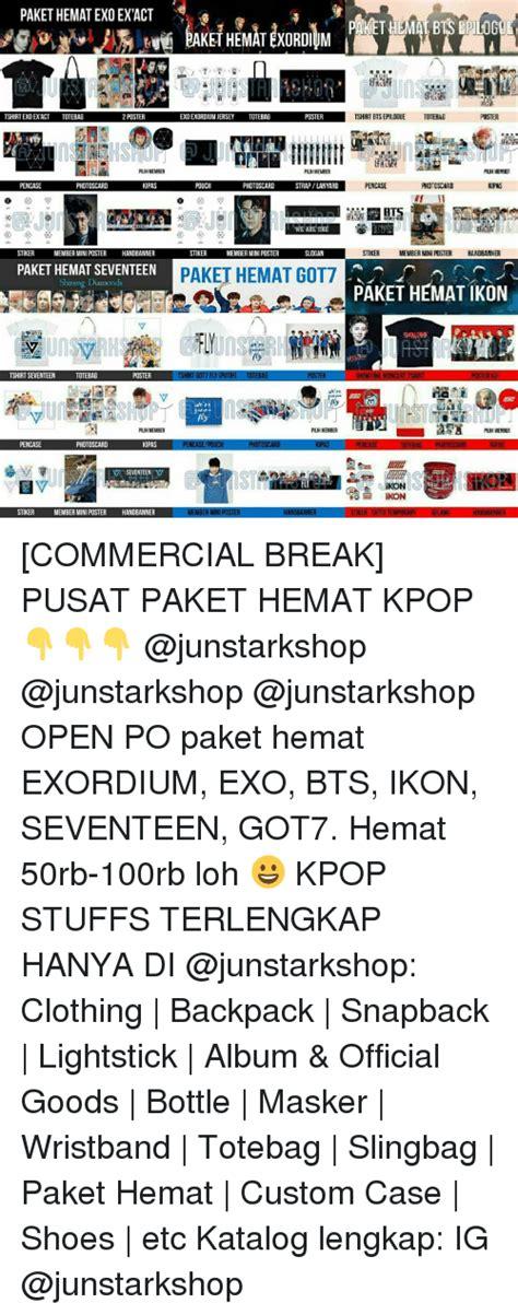 Paket Exordium Exo paket hematexo ex act tshirt exoexact totebag 2 poster