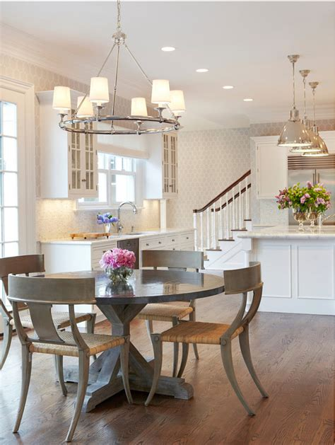 Kitchen Table Lighting Traditional Home With Transitional Interiors Home Bunch Interior Design Ideas