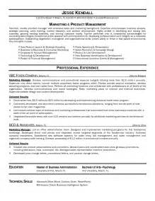 resume format marketing marketing manager resume format