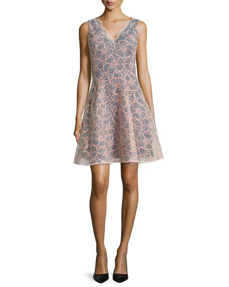 Sf 725 Flower Embroidery Flare erin erin fetherston sleeveless floral embroidered dress