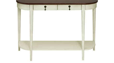 ivory accent table 399 99 halle ivory off white accent console table