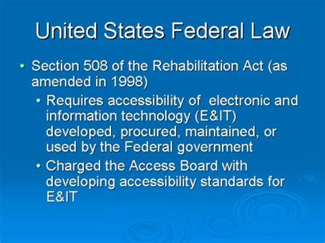 section 508 law slides and notes for it accessibility