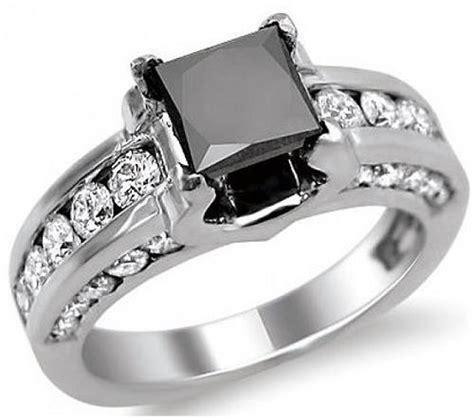 black princess cut wedding rings images inofashionstyle