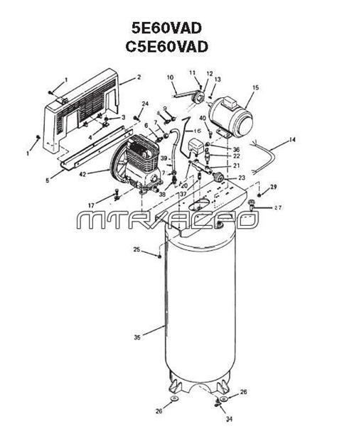 devilbiss parts ir5e60vad air compressor