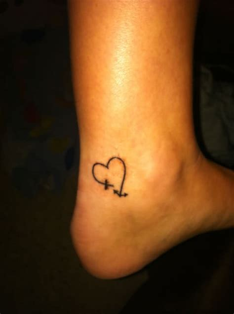 cross tattoo with heart 50 tattoos for ankle