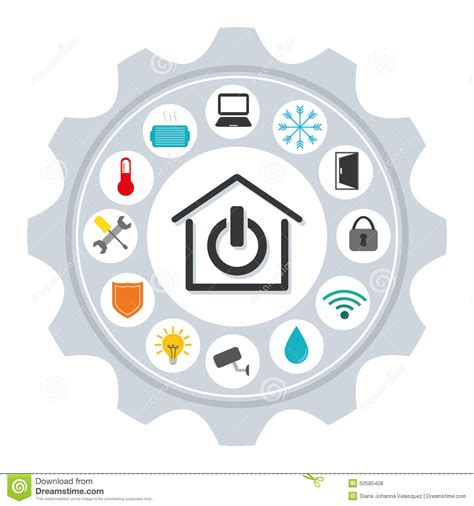 smart design smart home stock illustration image 50585408