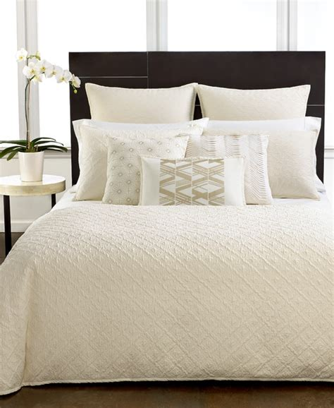 the hotel collection bedding hotel collection bedding stitched diamond collection contemporary bedroom other
