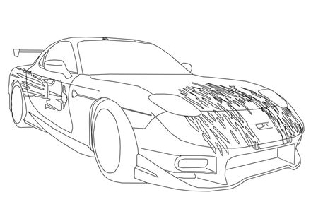 Tokyo Drift Coloring Pages Fast And Furious Coloring Pages