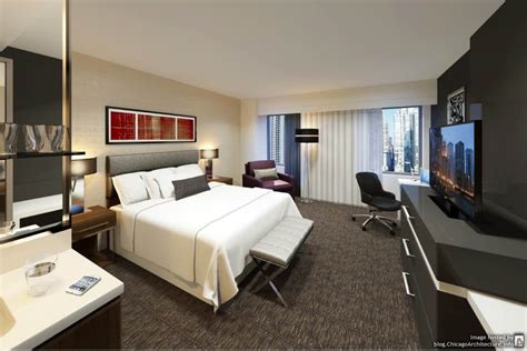 hotel room chicago godfrey hotel chicago guest room rendering chicago architecture