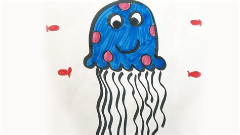 Drawing H Colour by How To Draw And Color A Jellyfish For