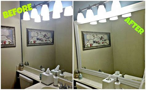 builder grade bathroom mirror framing your builder grade bathroom mirror more builder