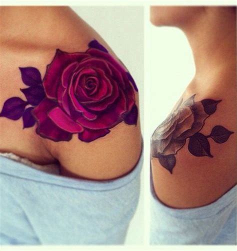 tattoo rose shoulder woman lovely red rose shoulder tattoos for women styles time
