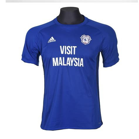 Cardiff City Home cardiff city 2017 18 adidas home kit 17 18 kits