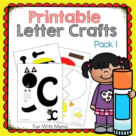 printable alphabet crafts printable letter crafts pack 1 fun with mama