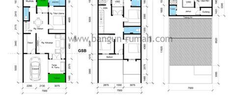 layout rumah lebar 10 meter denah rumah ukuran tanah 7 5 m x 15 m luas tanah 112 5