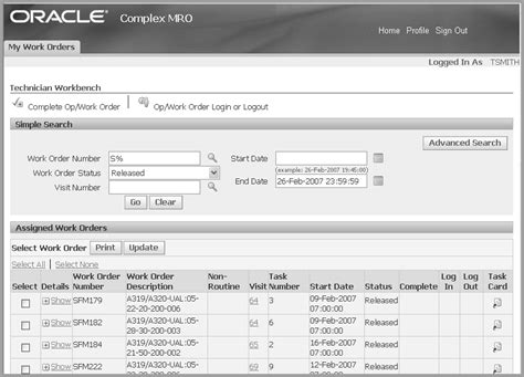 Oracle Complex Maintenance Repair And Overhaul User S Guide