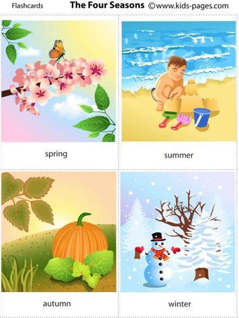 printable seasons poster free printable four seasons flashcards seasons and