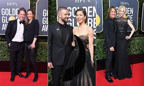hottest celebrity 2018 golden globes 2018 celebrity couples on the red carpet