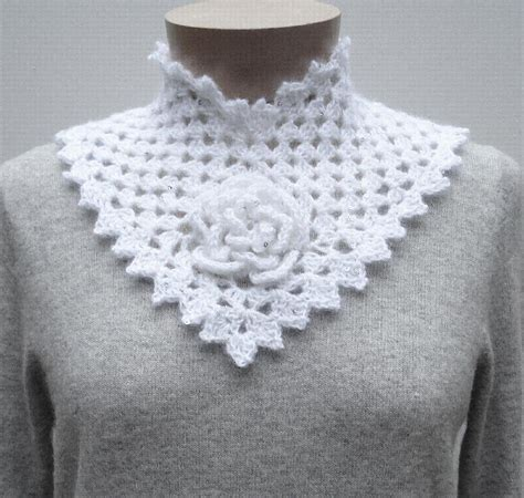 collar pattern pinterest flower square collar crochet crochet pattern by nancy