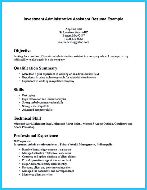 Assistant Resume by Admin Assistant Resume Sle Sarahepps