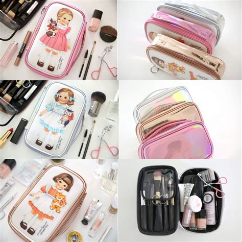 Doll Mate Cosmetic Pouch afrocat paper doll mate metallic makeup pouch m organizer