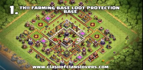 th11 clash of clans best base layouts 15 omg undefeated th11 war and farming bases layouts