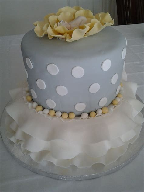 Yellow And Grey Baby Shower Cake by Grey And Yellow Baby Shower Cake Baby Shower Ideas