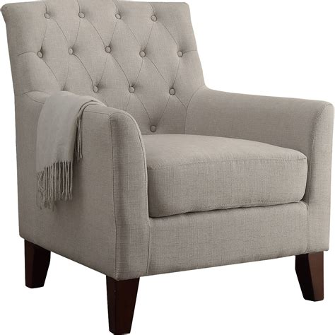 Pottery Barn Livingroom furniture beige tufted armchair with classic style chair idea