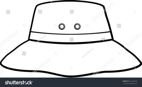 bucket hat coloring page bucket hat stock vector 212240770 shutterstock