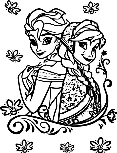 elsa and anna coloring book pages elsa and anna coloring pages coloring home