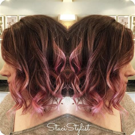 pink highlighted hair 50 17 best ideas about pink hair highlights on pinterest