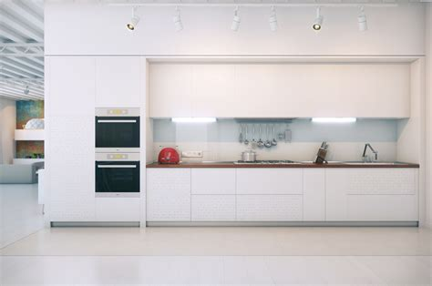 White Contemporary Kitchen Cabinets Contemporary White Kitchen Interior Design Ideas