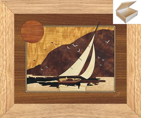 christmas gifts for dad wooden chest 10x12 sunset sailing