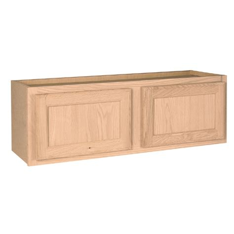 Lowes Kitchen Wall Cabinets | shop project source 36 in w x 12 in h x 12 in d unfinished