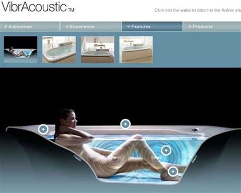 bathtub music kohler vibracoustic the vibrating music playing light up