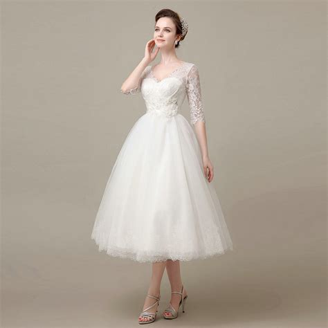 wedding dress i bought for my january 2011 afternoon wedding very aliexpress com buy hot sale half sleeve cheap mid calf