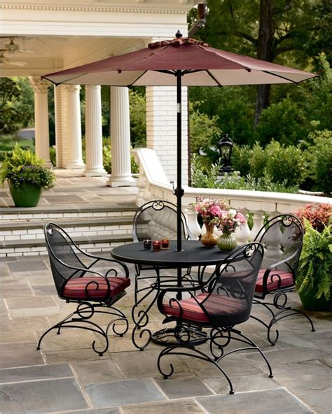 country living wrought iron dining set contemporary