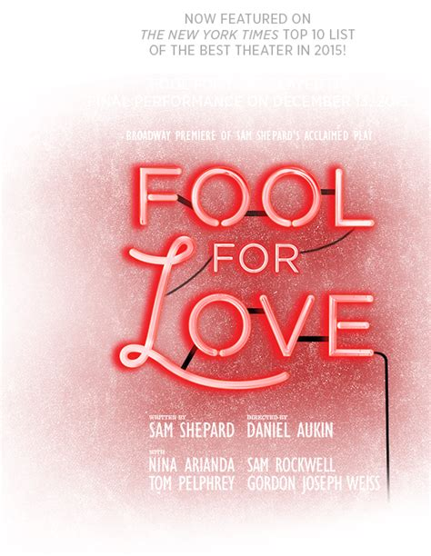 fool for love and fool for love