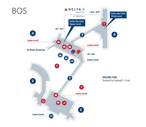 boston logan airport map boston logan airport terminal map bos delta air lines