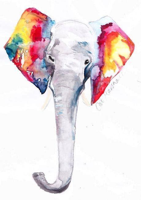 imagenes tumblr watercolor art draw elephant colors watercolor colorful color