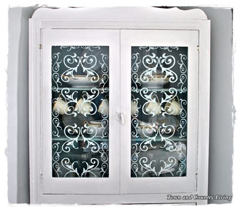 stencils for cabinet doors diy stenciled glass cabinet doors kitchen decor ideas