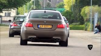 bmw m5 e60 sound best of bmw m5 e60 v10 exhaust sounds accelerations