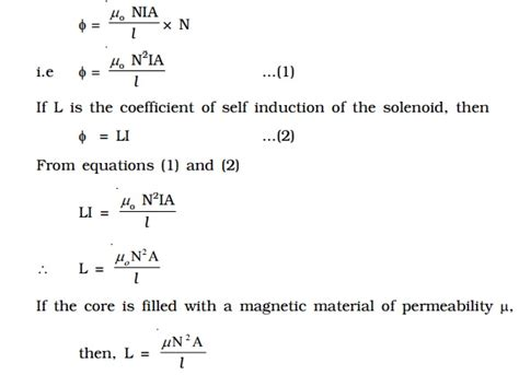 magnetic flux inductor formula self inductance of a solenoid study material lecturing notes assignment reference wiki